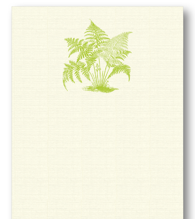 Fern Long Notepad