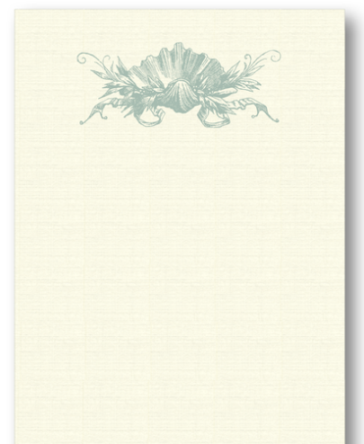 Shell Crown Sage Long Notepad