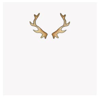 Antler Holiday Single Gift Tag