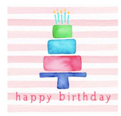 Birthday Cake Single Gift Tag