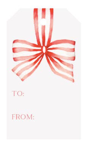 Striped Ribbon Gift Tags