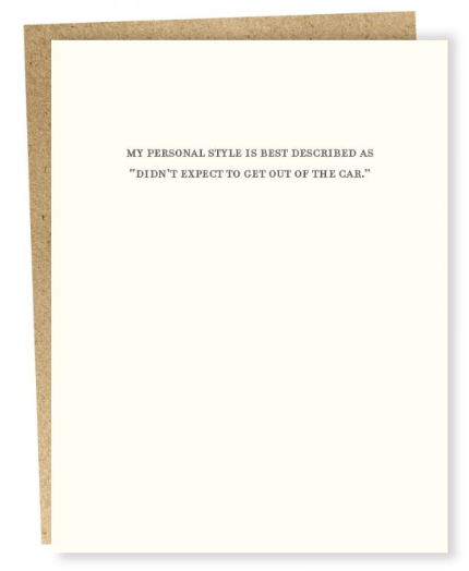 Personal Style Card