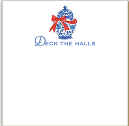 Deck the Halls Luxe Notepad