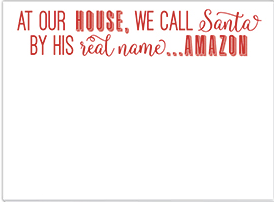 Santa ... Real Name Amazon Mini Slab Notepad
