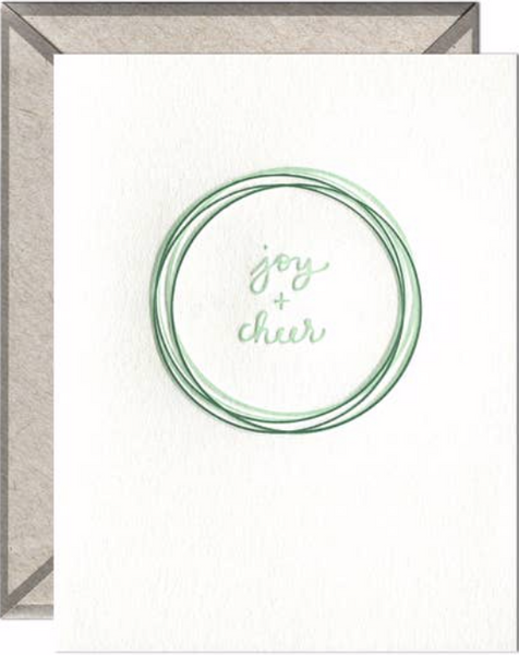 Joy and Cheer Greeting Card