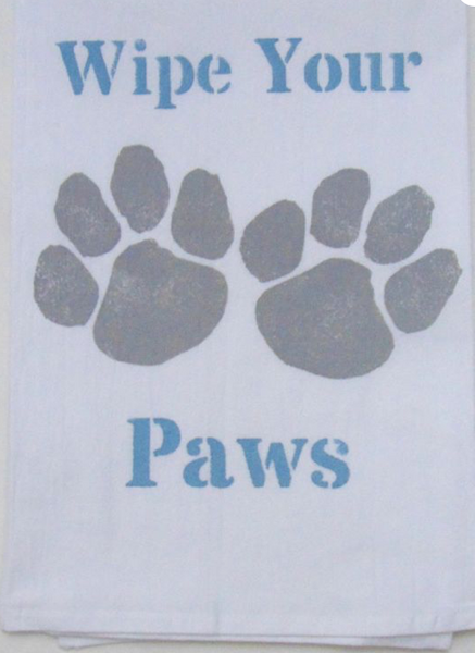 Wipe Your Paws Kitchen Towel