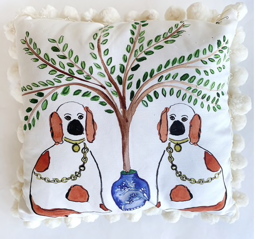 Traditional Ceramic Dog Pillow