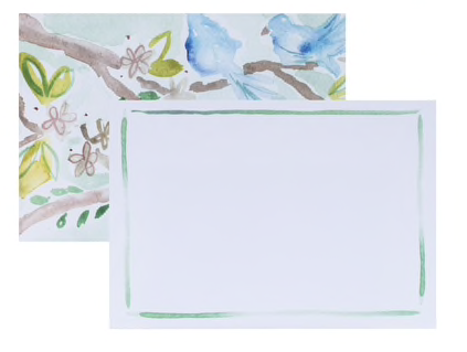 Blue Bird Flat Notecards