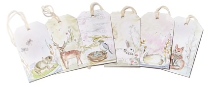 Whimsical Animals Gift Tags
