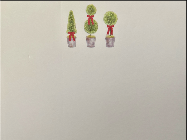 Three Topiaries Dittie Notepad