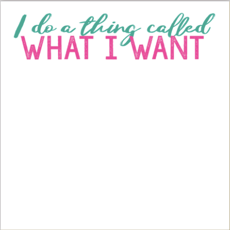I Do A Thing Luxe Notepad