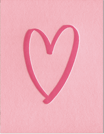 Brushed Heart Valentine's Greeting Card