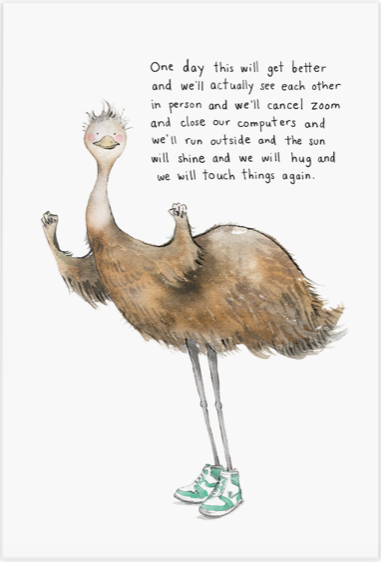 Encouraging Emu Postcard