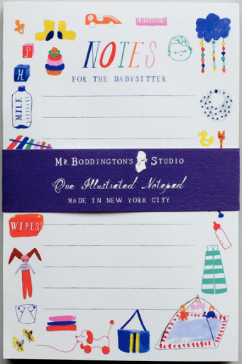 Be Home By Midnight Babysitter Notepad
