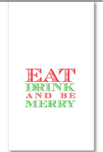 Eat Drink and Be Merry Wine Bags