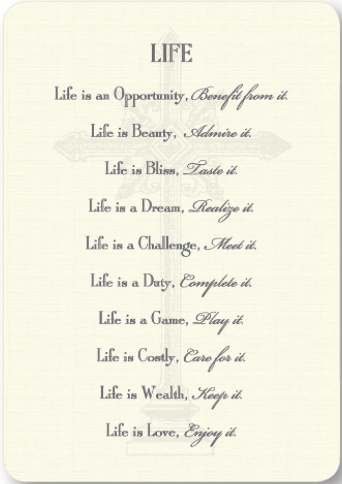 Life Prayer Enclosure Cards