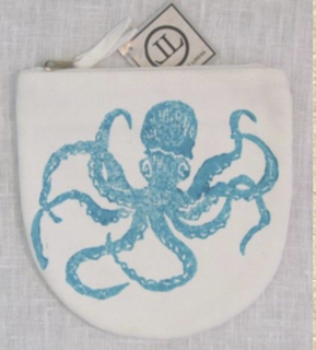 Caribbean Octopus Canvas Pouch