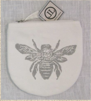 Grey Bee Pouch