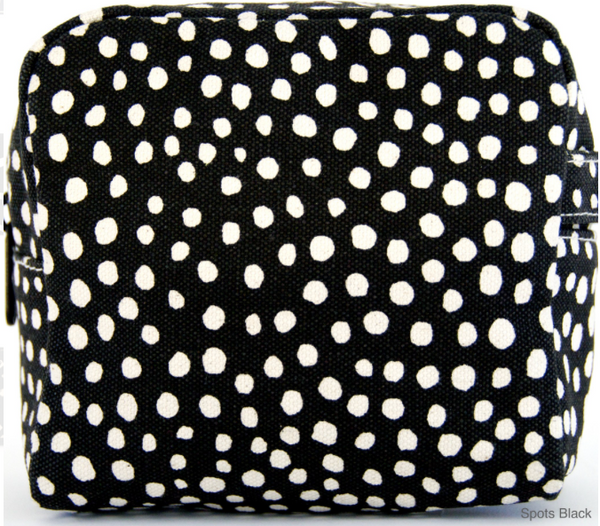 Spots Black Small Cosmetic Bag