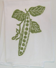 Green Pea Pod Kitchen Towel