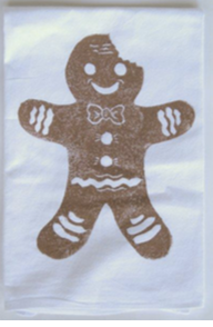 Gingerbread Man Kitchen Towel