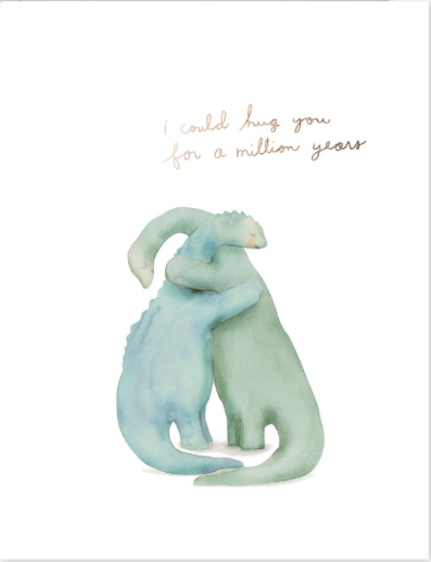Million Year Hug Greeting Card