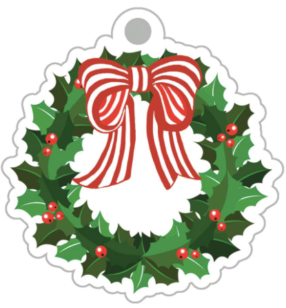 Holly Wreath Gift Tags