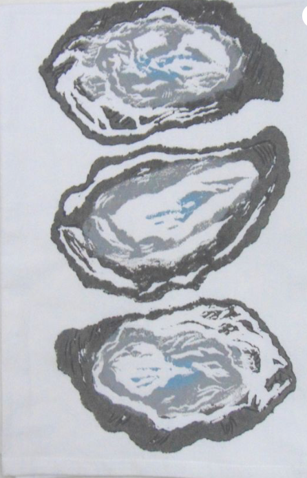 3 Oyster Shells Kitchen Towels