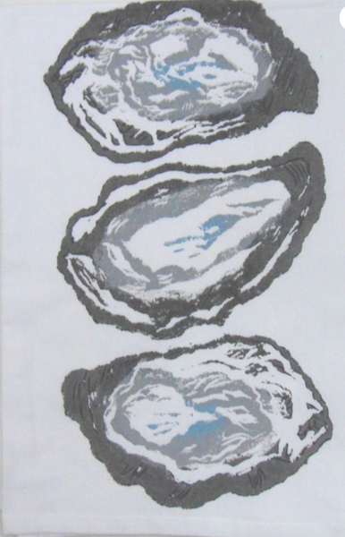 3 Oyster Shells Kitchen Towel