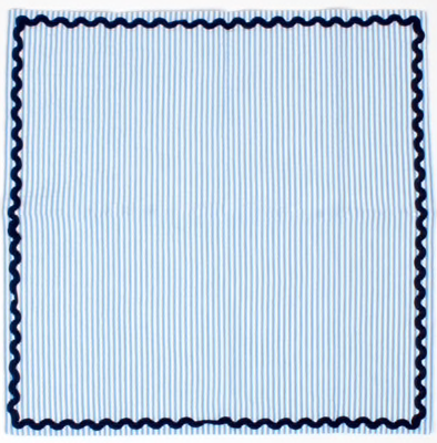 Blue Seersucker Dinner Napkins