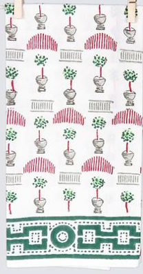 Christmas Topiary Tea Towel