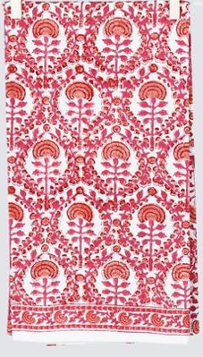 Caroline Red Tea Towel