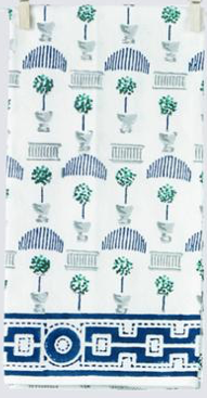 Topiary Jade & Indigo Tea Towel