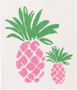 Pink Pineapple Blu Dish Cloths