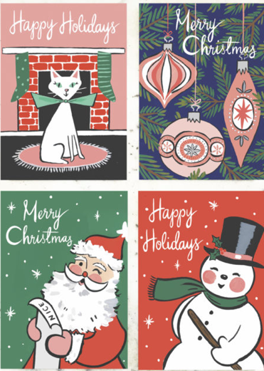 Retro Holiday Postcard Collection