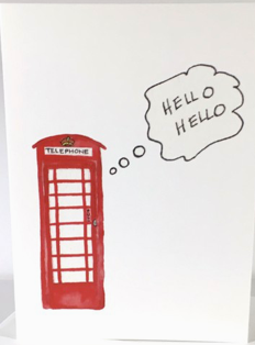 British Phone Booth Notecard Box Set