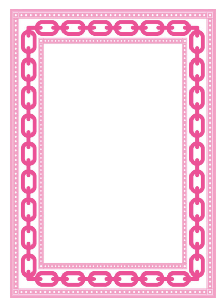 Hot Pink Chain Link Notepad