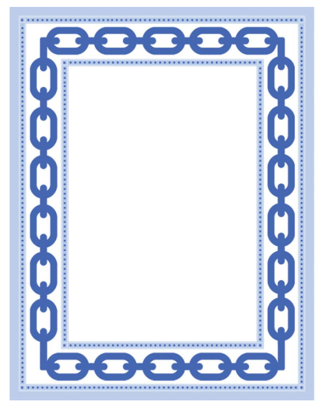 Blue Chain Link Notepad