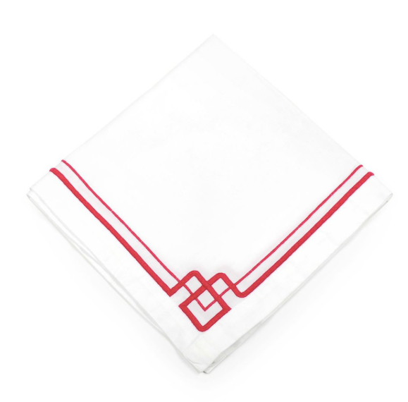 Interlocking Key Pink Napkins