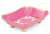 Pink Interlocking Key Trinket Tray