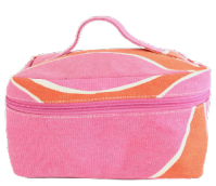 Hoop Pink/Orange Large Train Case