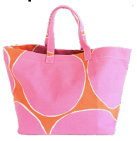 Hoop Pink/Orange Tote