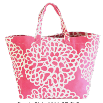 Clouds Pink Square Tote