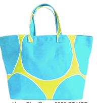 Hoop Blue/Green Square Tote