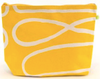 Loopy Yellow Extra Large Cosmetic Bag