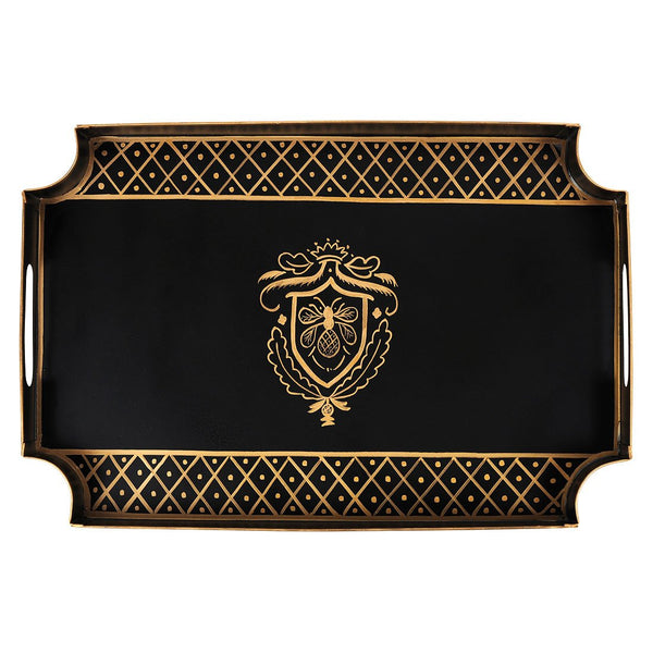 Heritage Bee Black Tray