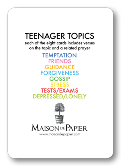 Teenager Topics Prayer Enclosure Cards