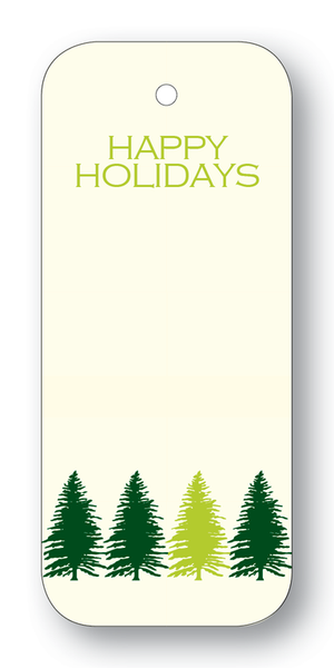 Happy Holidays Tree Line Gift Tags