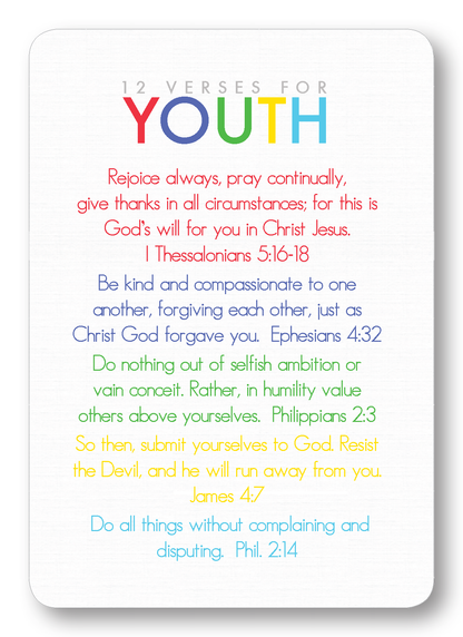 Verses for Youth Prayer Enclosure Cards