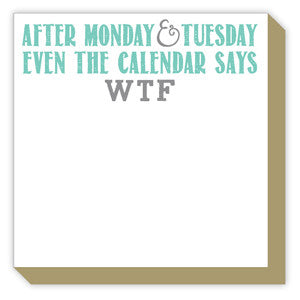 After Monday & Tuesday Luxe Notepad